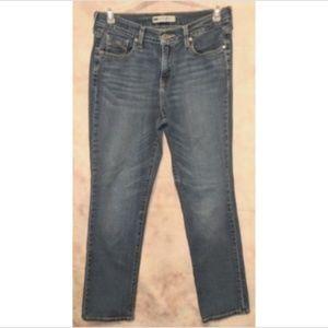Levi's 505 Straight Leg Classic Rise Cotton Blend